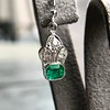 2.00ctw+ Emerald and Diamond Art Deco Conversion Earrings 19