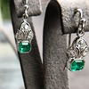 2.00ctw+ Emerald and Diamond Art Deco Conversion Earrings 20