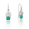 2.00ctw+ Emerald and Diamond Art Deco Conversion Earrings 0