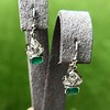 2.00ctw+ Emerald and Diamond Art Deco Conversion Earrings 24