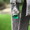 2.00ctw+ Emerald and Diamond Art Deco Conversion Earrings 11