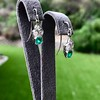 2.00ctw+ Emerald and Diamond Art Deco Conversion Earrings 5