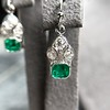 2.00ctw+ Emerald and Diamond Art Deco Conversion Earrings 22