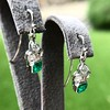 2.00ctw+ Emerald and Diamond Art Deco Conversion Earrings 18