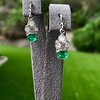 2.00ctw+ Emerald and Diamond Art Deco Conversion Earrings 6