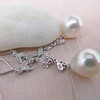 Diamond and Pearl Dangle Earrings 4
