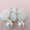 Diamond and Pearl Dangle Earrings 1