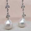 Diamond and Pearl Dangle Earrings 2