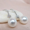 Diamond and Pearl Dangle Earrings 5