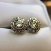 4.05ctw Round Brilliant Cluster Earrings 15