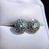 4.05ctw Round Brilliant Cluster Earrings 32