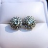 4.05ctw Round Brilliant Cluster Earrings 31