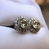 4.05ctw Round Brilliant Cluster Earrings 17