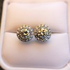 4.05ctw Round Brilliant Cluster Earrings 35
