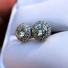 4.05ctw Round Brilliant Cluster Earrings 33