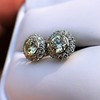4.05ctw Round Brilliant Cluster Earrings 22