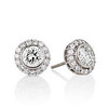 4.05ctw Round Brilliant Cluster Earrings 0