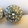 4.05ctw Round Brilliant Cluster Earrings 12