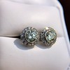 4.05ctw Round Brilliant Cluster Earrings 21