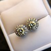 4.05ctw Round Brilliant Cluster Earrings 26