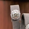 4.05ctw Round Brilliant Cluster Earrings 10