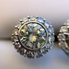 4.05ctw Round Brilliant Cluster Earrings 11