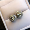 4.05ctw Round Brilliant Cluster Earrings 37