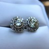 4.05ctw Round Brilliant Cluster Earrings 27