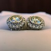 4.05ctw Round Brilliant Cluster Earrings 13