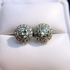 4.05ctw Round Brilliant Cluster Earrings 20