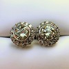 4.05ctw Round Brilliant Cluster Earrings 16