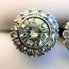 4.05ctw Round Brilliant Cluster Earrings 5