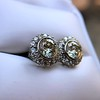 4.05ctw Round Brilliant Cluster Earrings 28