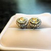 4.05ctw Round Brilliant Cluster Earrings 34