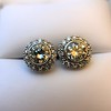 4.05ctw Round Brilliant Cluster Earrings 14