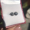 1.40-1.50ctw Georgian Pear Collet Stud Earrings