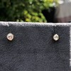 .54ctw Old European Cut Diamond Clover Stud Earrings, Yellow Gold 4