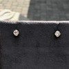 .54ctw Old European Cut Diamond Clover Stud Earrings, Yellow Gold 3