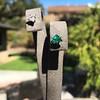 .85ctw Vintage Mismatched Emerald and Diamond Stud Earrings 4