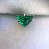 .85ctw Vintage Mismatched Emerald and Diamond Stud Earrings 5