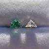 .85ctw Vintage Mismatched Emerald and Diamond Stud Earrings 12