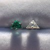 .85ctw Vintage Mismatched Emerald and Diamond Stud Earrings 15