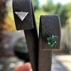 .85ctw Vintage Mismatched Emerald and Diamond Stud Earrings 27