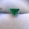 .85ctw Vintage Mismatched Emerald and Diamond Stud Earrings 7