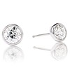 1.91ctw Old European Cut Diamond Bezel Stud Earrings 0