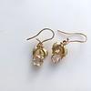 .98ctw Oval Rose Cut Diamond Earrings With Leaf Motif 8