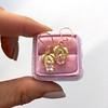.98ctw Oval Rose Cut Diamond Earrings With Leaf Motif 5