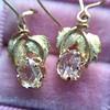 .98ctw Oval Rose Cut Diamond Earrings With Leaf Motif 7