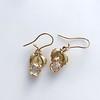 .98ctw Oval Rose Cut Diamond Earrings With Leaf Motif 9