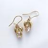 .98ctw Oval Rose Cut Diamond Earrings With Leaf Motif 2